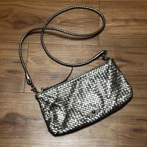 Elliot Lucca Metallic Woven Bag